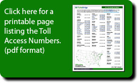 Print Local Toll Numbers